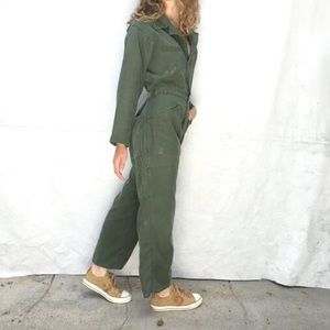 Vintage Late 60's early 70's Flight Suit Coveralls